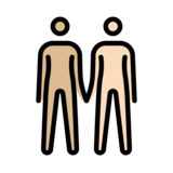 People Holding Hands: Medium-Light Skin Tone, Light Skin Tone on OpenMoji 12.3