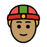 Person With Skullcap: Medium Skin Tone on OpenMoji 12.3