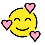 Smiling Face with Hearts on OpenMoji 12.3