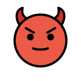 Smiling Face with Horns on OpenMoji 12.3