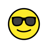 Smiling Face with Sunglasses on OpenMoji 12.3