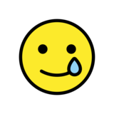 Smiling Face with Tear on OpenMoji 12.3