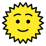 Sun with Face on OpenMoji 12.3