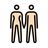 Woman and Man Holding Hands: Light Skin Tone on OpenMoji 12.3