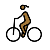 Woman Biking: Medium-Dark Skin Tone on OpenMoji 12.3
