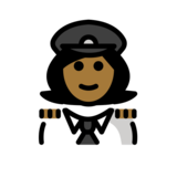 Woman Pilot: Medium-Dark Skin Tone on OpenMoji 12.3