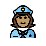 Woman Police Officer: Medium Skin Tone on OpenMoji 12.3