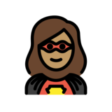 Woman Superhero: Medium Skin Tone on OpenMoji 12.3