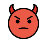 Angry Face with Horns on OpenMoji 13.0