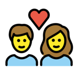 Couple with Heart: Woman, Man on OpenMoji 13.0