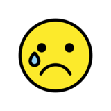 Crying Face on OpenMoji 13.0