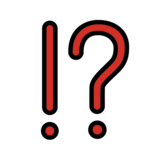 Exclamation Question Mark on OpenMoji 13.0