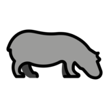 Hippopotamus on OpenMoji 13.0