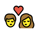 Kiss: Woman, Man on OpenMoji 13.0