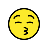 Kissing Face with Closed Eyes on OpenMoji 13.0
