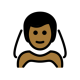 Man with Veil: Medium-Dark Skin Tone on OpenMoji 13.0