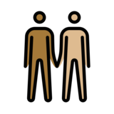Men Holding Hands: Medium-Dark Skin Tone, Medium-Light Skin Tone on OpenMoji 13.0