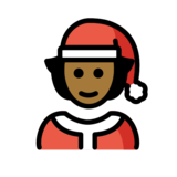 Mx Claus: Medium-Dark Skin Tone on OpenMoji 13.0