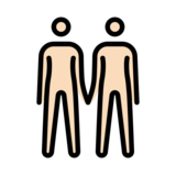 People Holding Hands: Light Skin Tone on OpenMoji 13.0