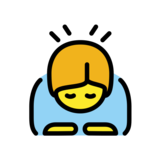 Person Bowing on OpenMoji 13.0