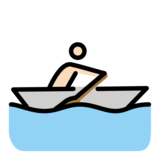 Person Rowing Boat: Light Skin Tone on OpenMoji 13.0