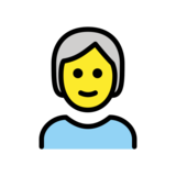 Person: White Hair on OpenMoji 13.0