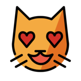 Smiling Cat with Heart-Eyes on OpenMoji 13.0