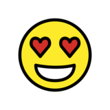 Smiling Face with Heart-Eyes on OpenMoji 13.0