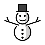 Snowman Without Snow on OpenMoji 13.0