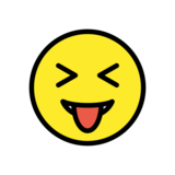 Squinting Face with Tongue on OpenMoji 13.0