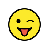 Winking Face with Tongue on OpenMoji 13.0