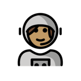 Woman Astronaut: Medium Skin Tone on OpenMoji 13.0