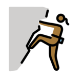 Woman Climbing: Medium-Dark Skin Tone on OpenMoji 13.0