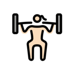 Woman Lifting Weights: Light Skin Tone on OpenMoji 13.0