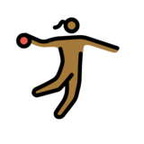 Woman Playing Handball: Medium-Dark Skin Tone on OpenMoji 13.0
