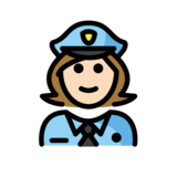 Woman Police Officer: Light Skin Tone on OpenMoji 13.0