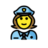 Woman Police Officer on OpenMoji 13.0
