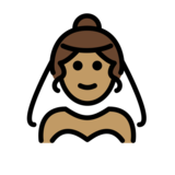 Woman with Veil: Medium Skin Tone on OpenMoji 13.0