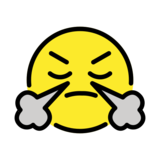 Face with Steam From Nose on OpenMoji 13.1