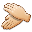Clapping Hands: Light Skin Tone on Samsung Experience 8.5
