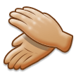 Clapping Hands: Medium-Light Skin Tone on Samsung Experience 8.5