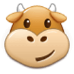 Cow Face on Samsung Experience 8.5