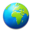Globe Showing Europe-Africa on Samsung Experience 8.5
