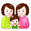 Family: Woman, Woman, Boy on Samsung Experience 8.5