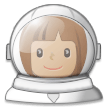 Woman Astronaut: Medium Skin Tone on Samsung Experience 8.5