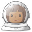 Woman Astronaut: Medium-Dark Skin Tone on Samsung Experience 8.5