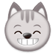 Grinning Cat with Smiling Eyes on Samsung Experience 8.5