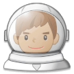 Man Astronaut: Medium Skin Tone on Samsung Experience 8.5