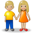 Woman and Man Holding Hands: Medium-Light Skin Tone on Samsung Experience 8.5