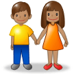 Woman and Man Holding Hands: Medium Skin Tone on Samsung Experience 8.5